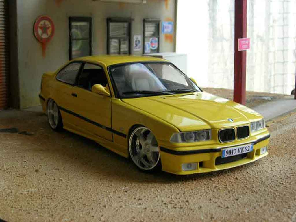 Bmw M3 E36 1/18 Ut Models jaune tuning