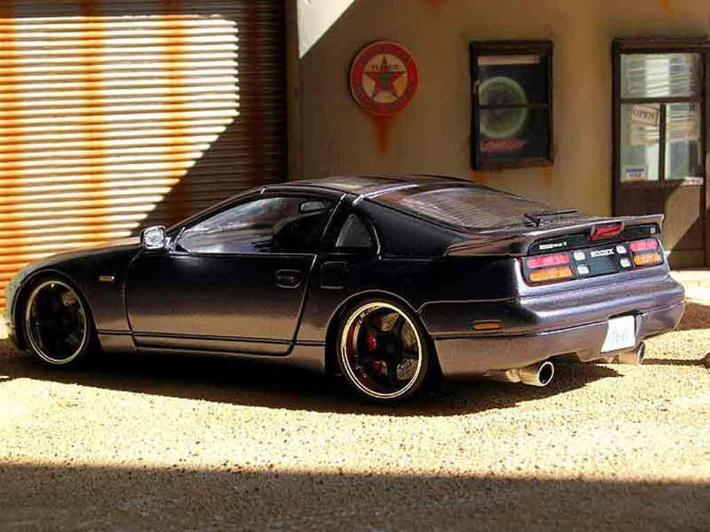Modèle réduit Nissan 300 ZX grise tuning Kyosho. Nissan 300 ZX grise miniature 1/18