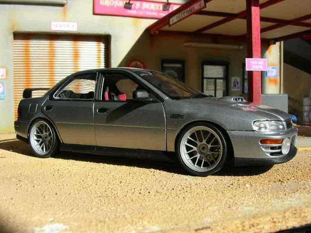 Subaru Impreza STI 1/18 Autoart GT Turbo wrx grey