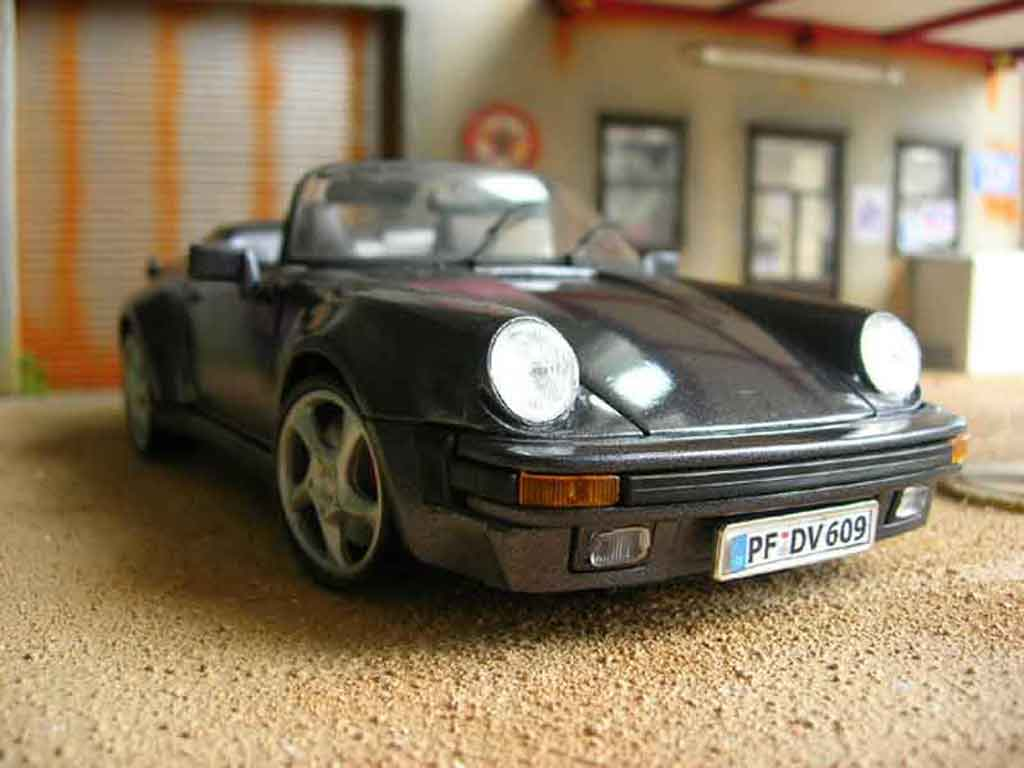 Porsche 930 Speedster 1/18 Maisto 1989 grey tuning diecast model cars
