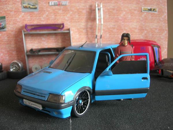 Miniature Peugeot 205 GTI Auto Tuning 93 bleue tuning Solido. Peugeot 205 GTI Auto Tuning 93 bleue Auto Tuning 93 miniature 1/18