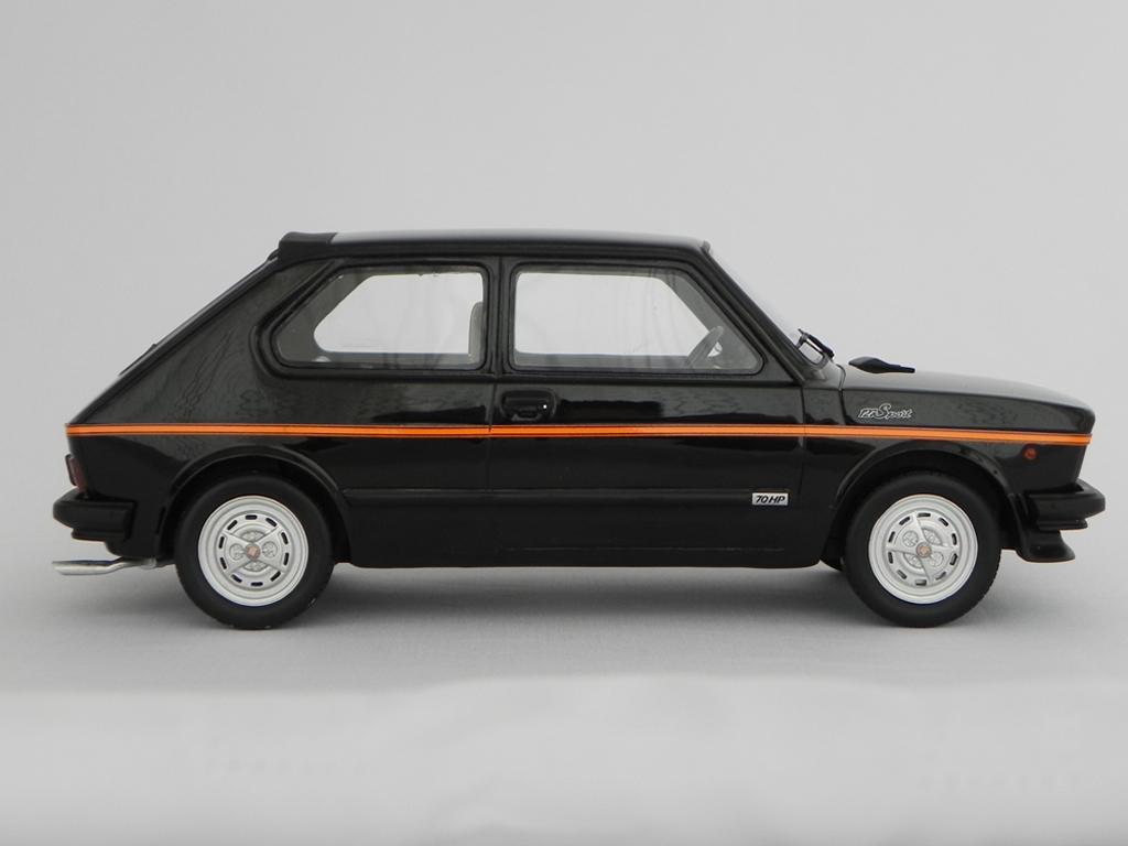 Fiat 127 Sport 1/18 Laudoracing Models 70 HP LM090 noire