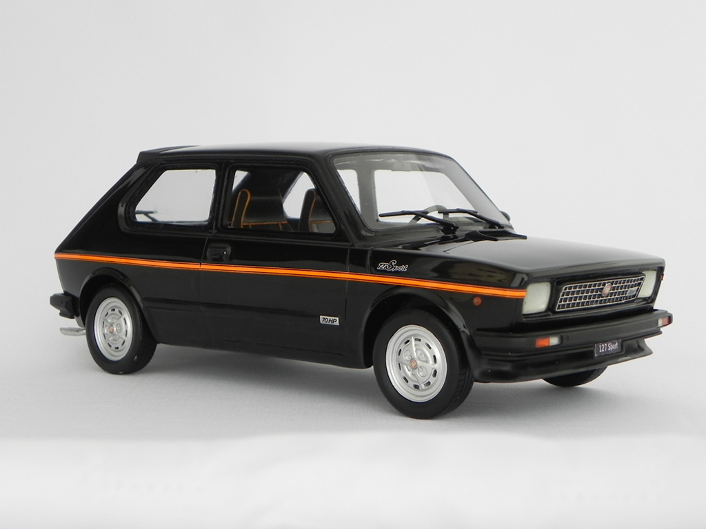 fiat 127 sport miniature 70 hp lm090 noire laudoracing models 1 18 voiture. Black Bedroom Furniture Sets. Home Design Ideas