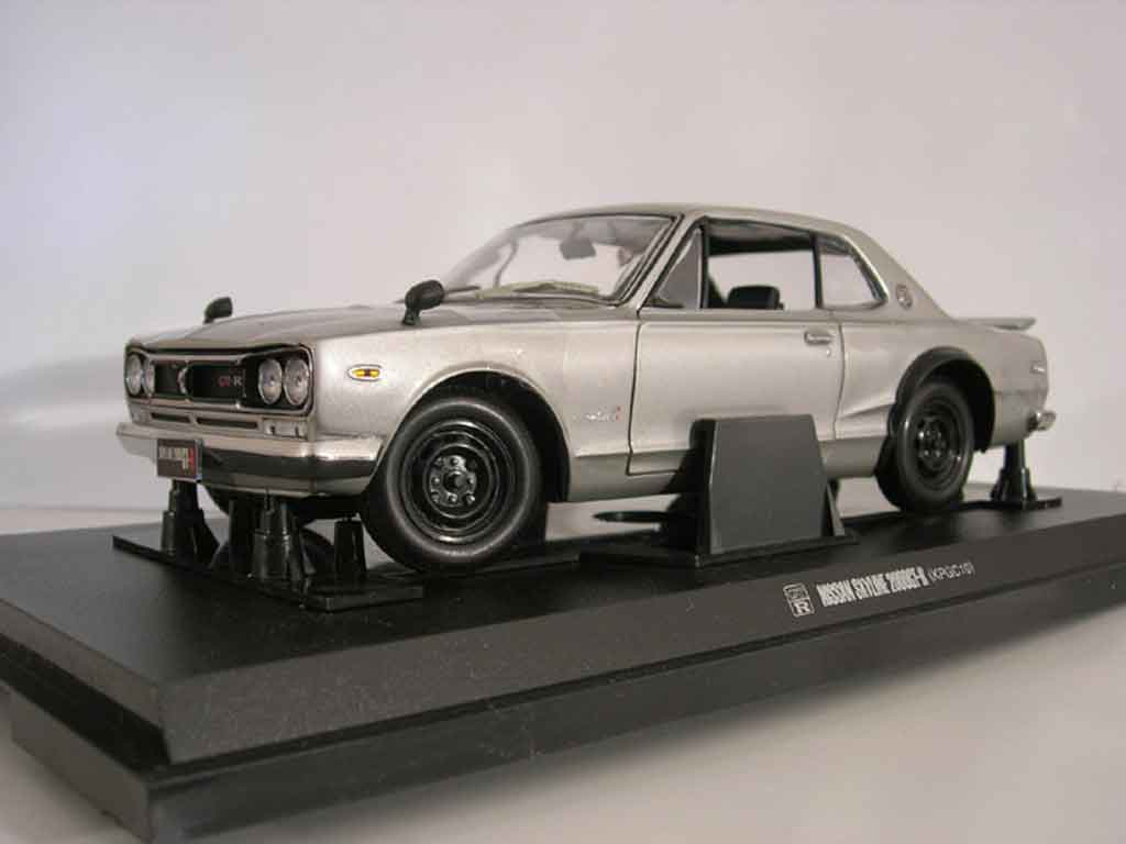 nissan skyline 2000 gt r kpgc 10 grau kyosho modellauto 1 18 kaufen verkauf modellauto. Black Bedroom Furniture Sets. Home Design Ideas