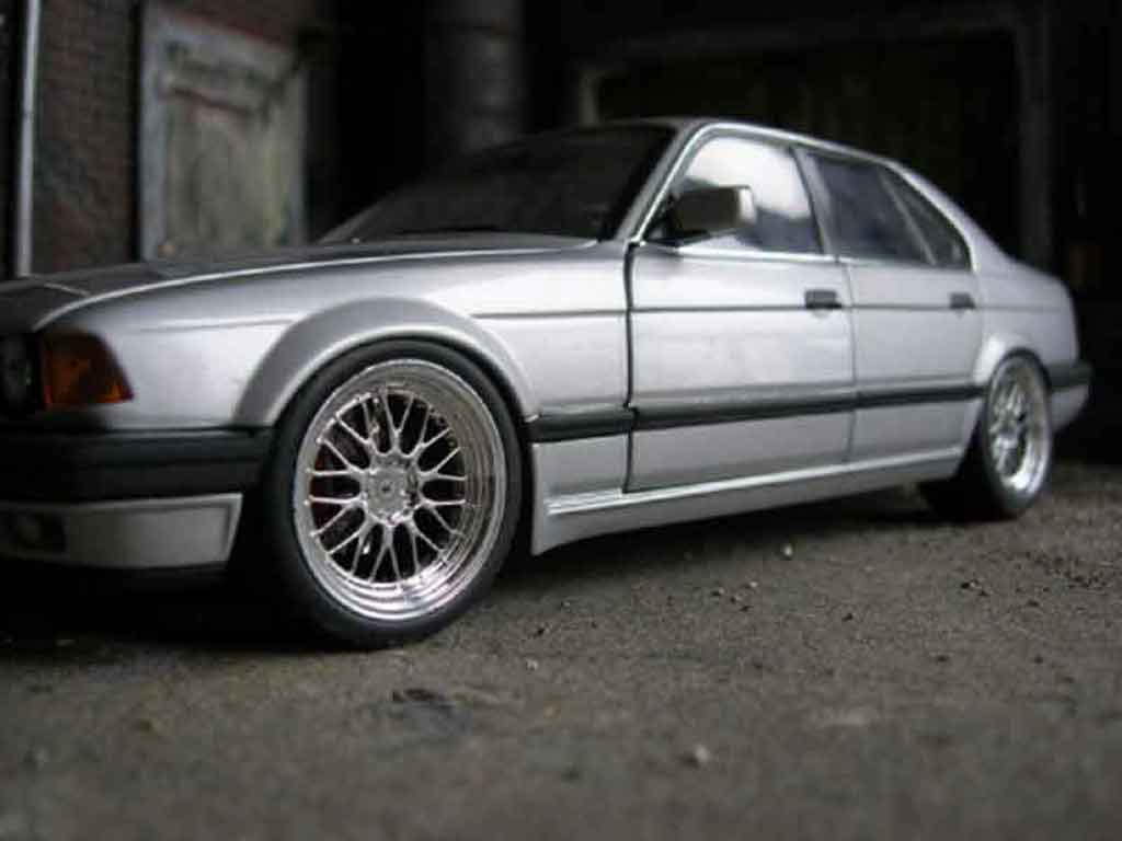 Bmw 730 E32 1/18 Minichamps i grey 1986 jantes bbs 18 pouces tuning diecast model cars
