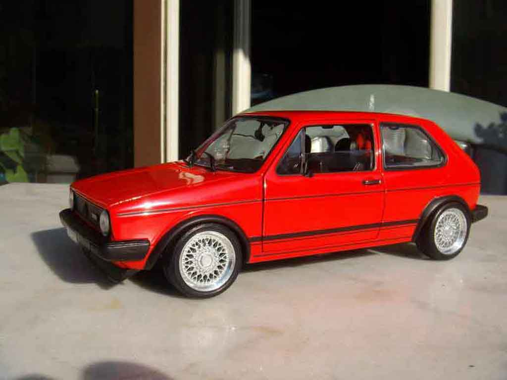volkswagen golf 1 gti rouge miniature jantes bbs solido 1 18 voiture. Black Bedroom Furniture Sets. Home Design Ideas