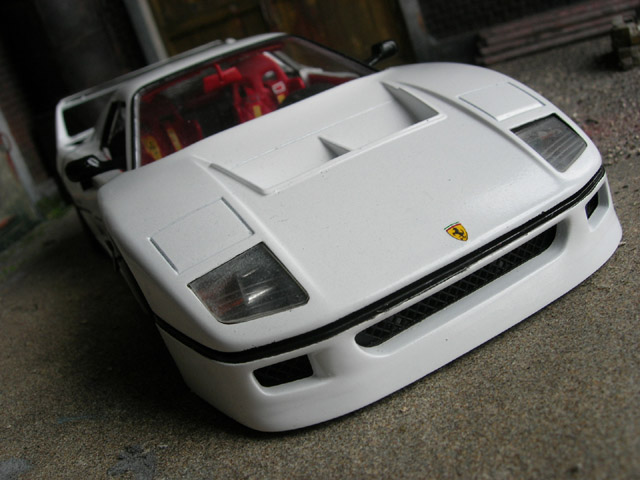 Ferrari F40 LM 1/18 Burago white tuning diecast model cars