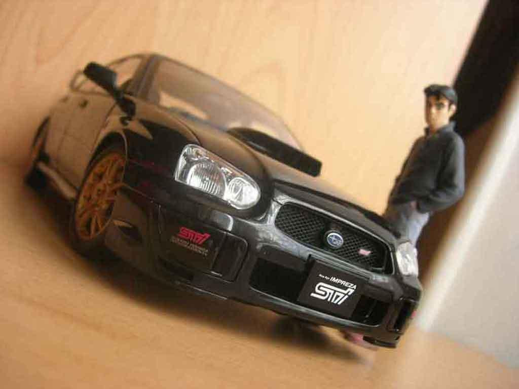 Subaru Impreza WRX 1/18 Autoart STI 2003 noire miniature