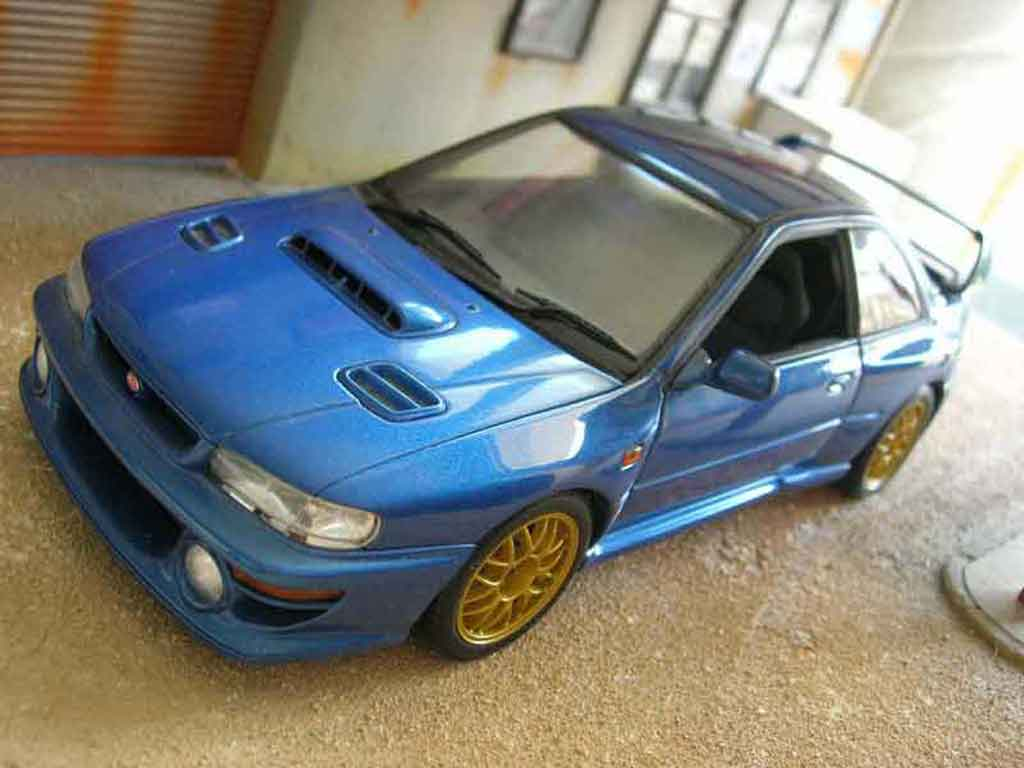 subaru impreza 22b miniature autoart 1 18 voiture. Black Bedroom Furniture Sets. Home Design Ideas