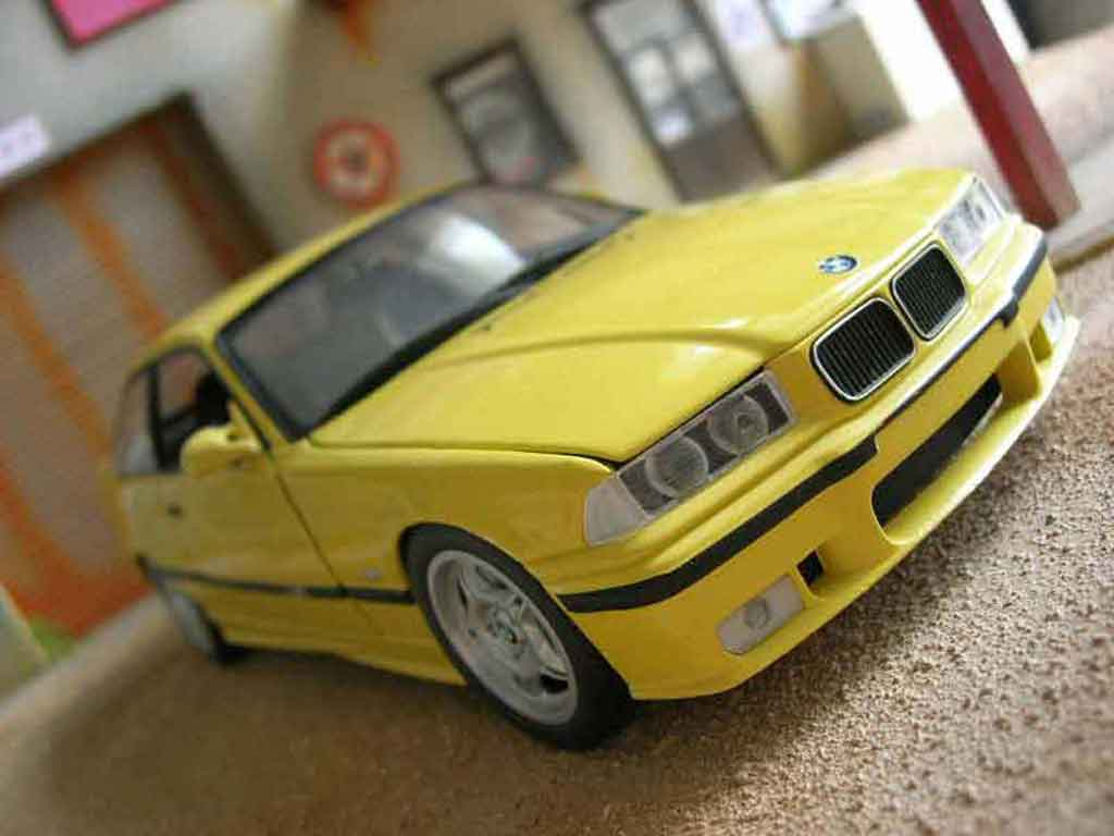 Bmw M3 E36 1/18 Ut Models jaune origine miniature