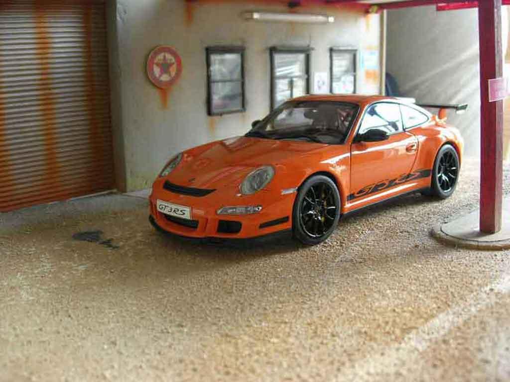 porsche 997 gt3 rs orange felgen schwarz autoart modellauto 1 18 kaufen verkauf modellauto. Black Bedroom Furniture Sets. Home Design Ideas
