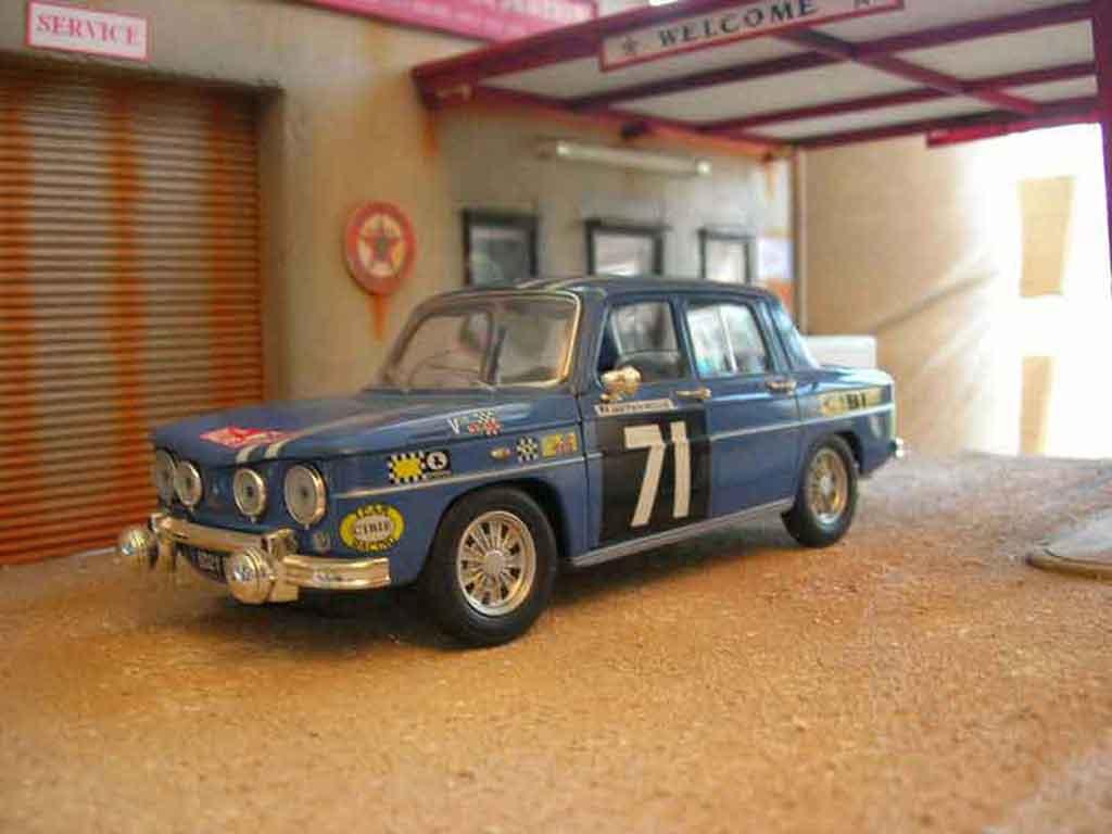 Renault 8 Gordini rallye Solido. Renault 8 Gordini rallye Rallye miniature modèle réduit 1/18