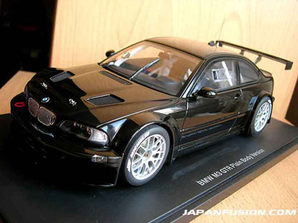bmw m3 e46 gtr plain body version black autoart diecast model car 1