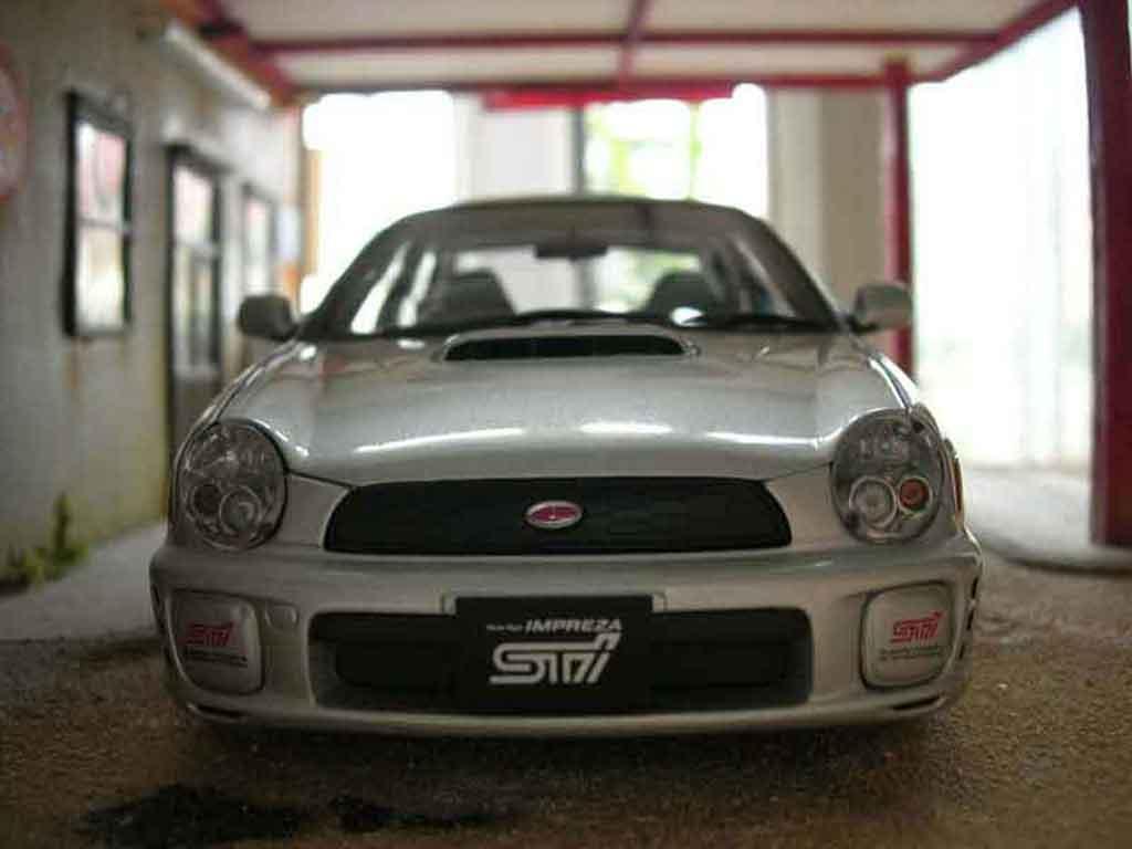 Subaru Impreza WRX 1/18 Autoart STI grise miniature