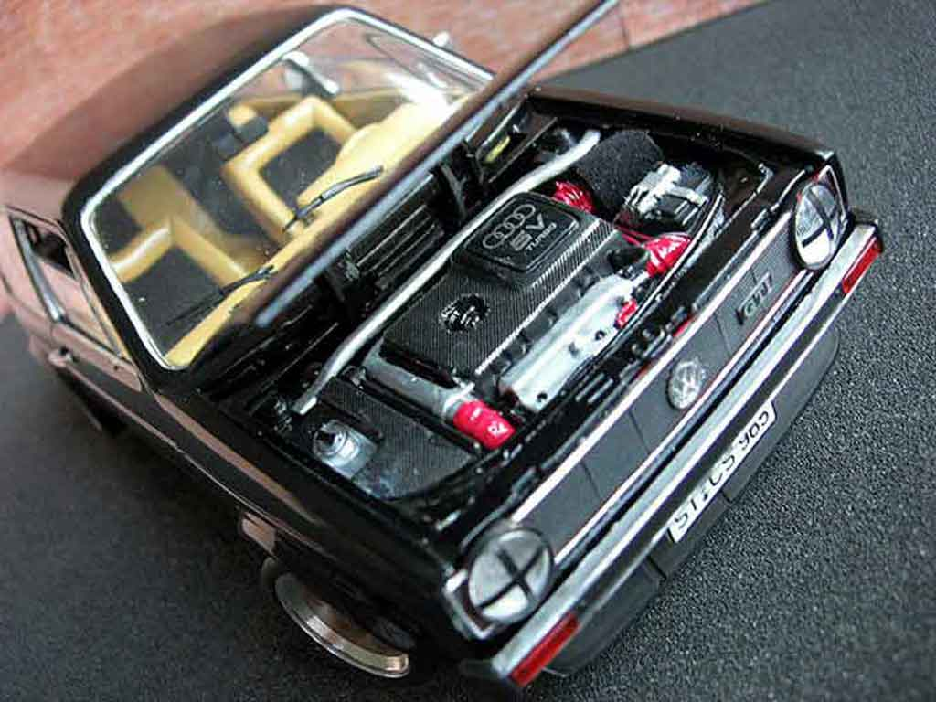 Volkswagen Golf 1 GTI 1/18 Solido German Look swap moteur audi tt black tuning diecast model cars