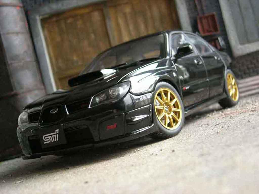 Subaru Impreza WRX 1/18 Autoart STI 2006 noire miniature