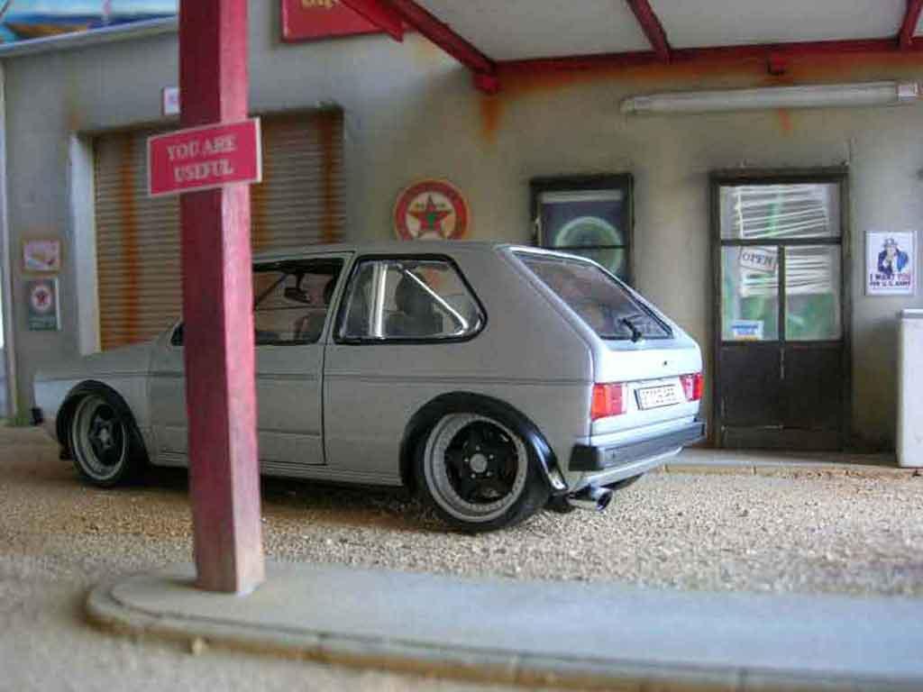 Volkswagen Golf 1 GTI jantes Porsche rs tuning Solido. Volkswagen Golf 1 GTI jantes Porsche rs German Look miniature miniature 1/18