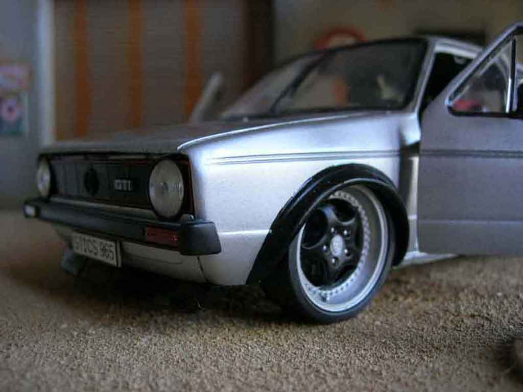 Volkswagen Golf 1 GTI 1/18 Solido jantes Porsche rs tuning diecast model cars