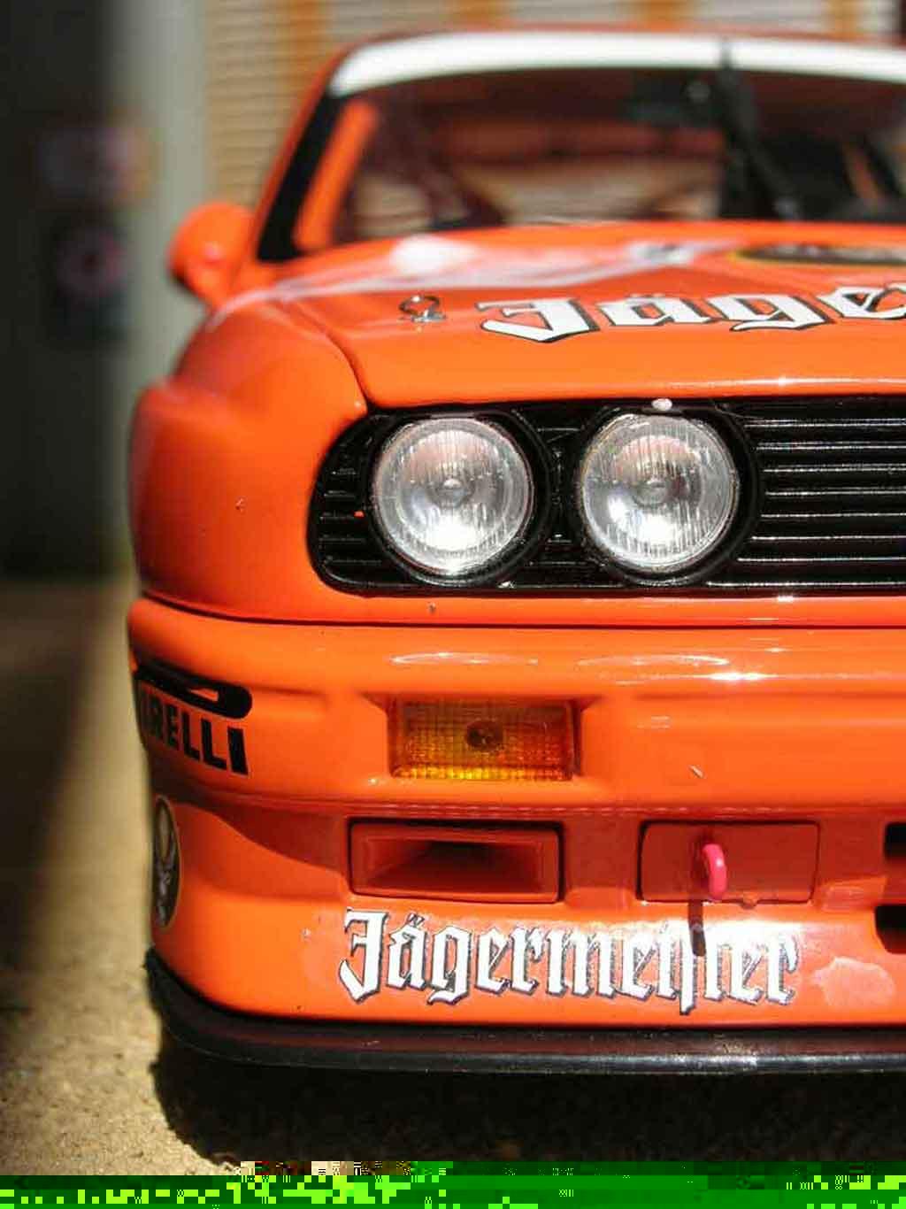 Bmw M3 E30 1/18 Minichamps DTM team linder #18 hahne jagermeister
