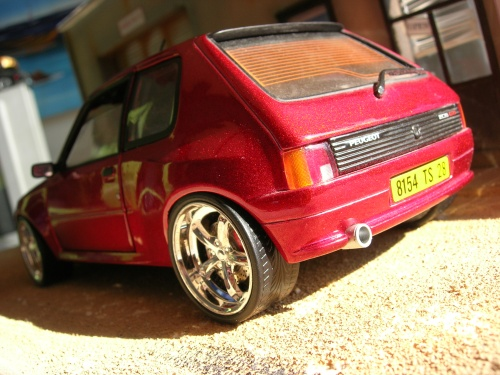 Peugeot 205 GTI 1/18 Solido Dimma red tuning diecast model cars