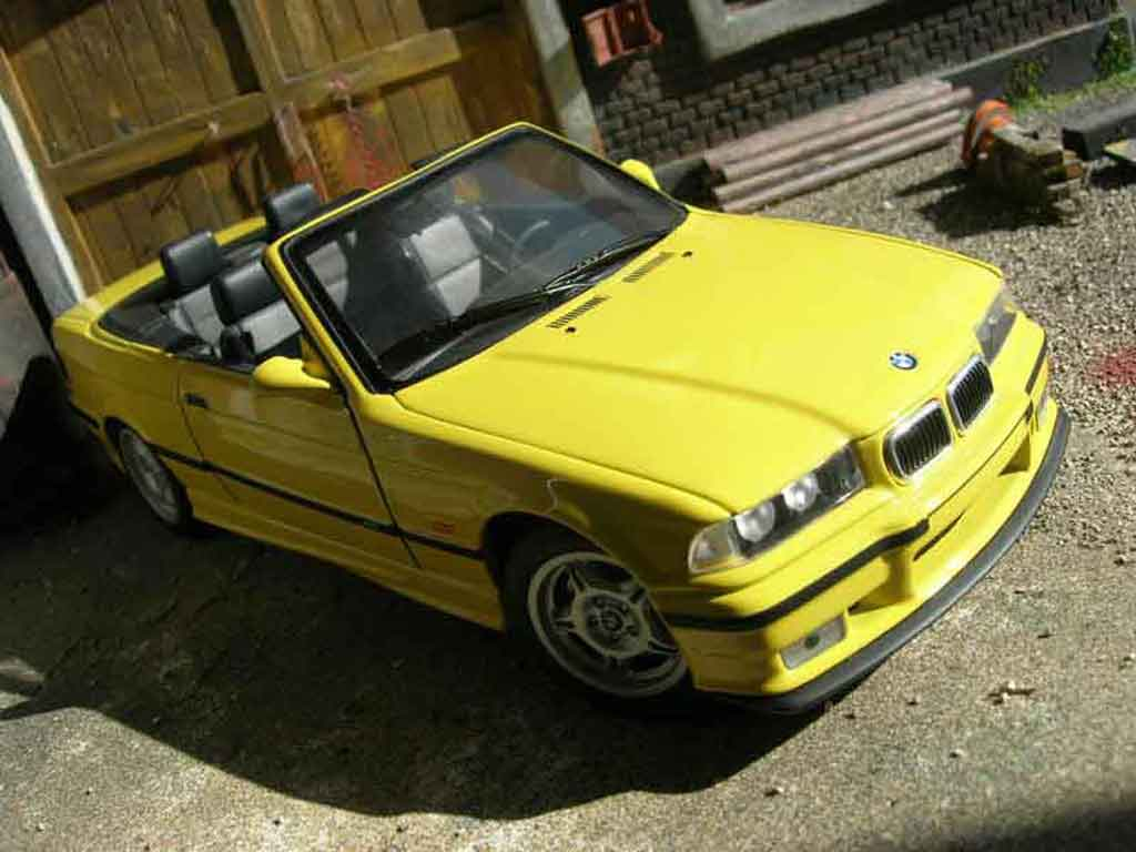Bmw M3 E36 cabriolet yellow full stock Ut Models. Bmw M3 E36 cabriolet yellow full stock miniature 1/18