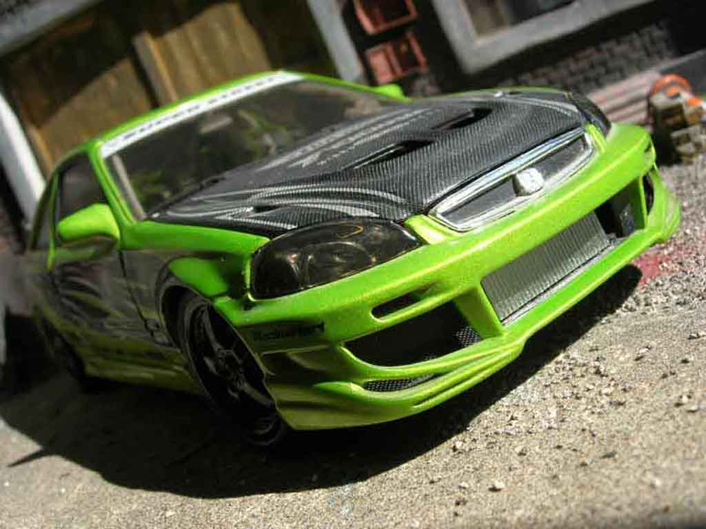 Honda Civic 1/18 Hot Wheels ek si coupe miniature