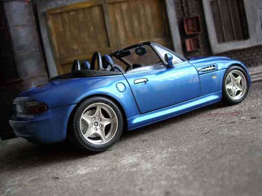 Bmw Z3 M 1/18 Burago roadster bleu 1996