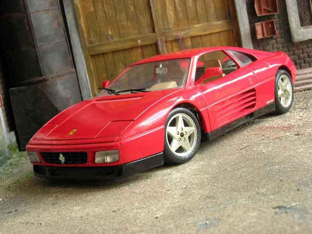 Ferrari 348 TB 1/18 Burago rouge miniature