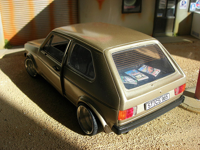 Volkswagen Golf 1 GTI 1/18 Solido german look swap moteur audi tt jantes bords larges