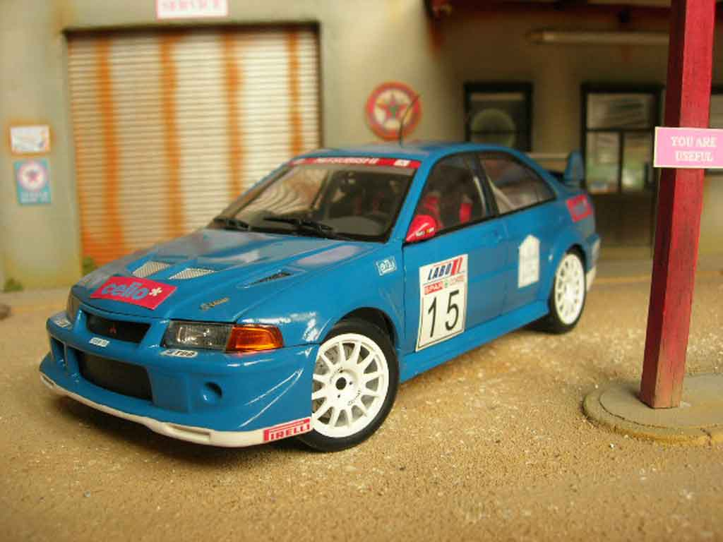Mitsubishi Lancer Evolution VI 1/18 Autoart rallye tuning diecast model cars