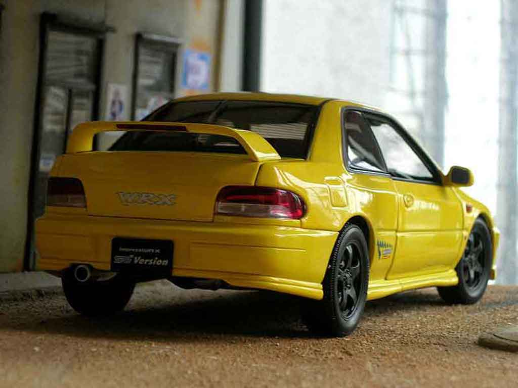 subaru impreza wrx type r gt turbo sti amarilo autoart coches miniaturas 1 18 comprar venta. Black Bedroom Furniture Sets. Home Design Ideas