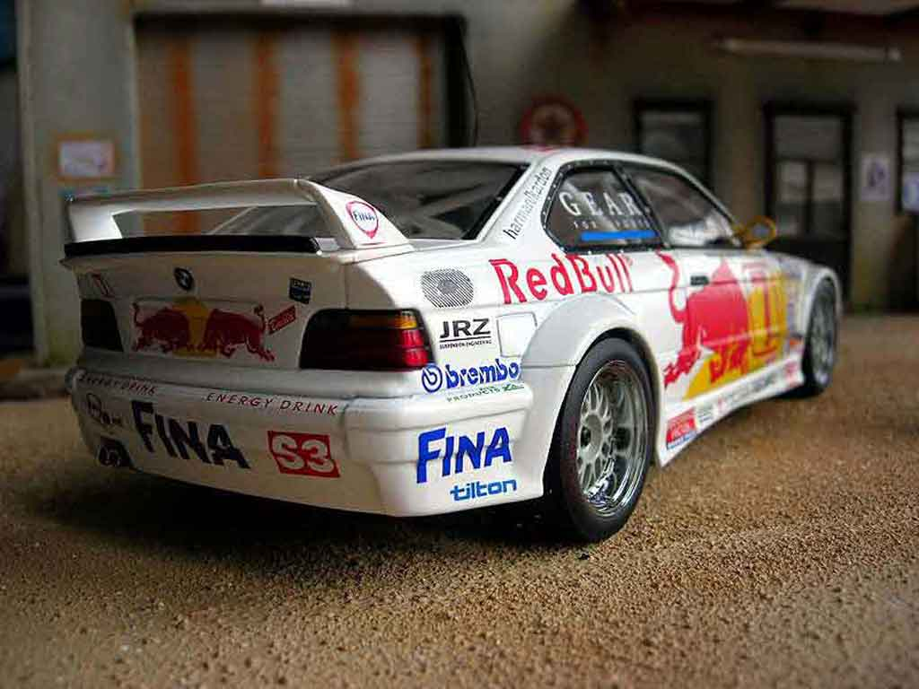 bmw m3 e36 gtr red bull 1997 ut models modellauto 1 18. Black Bedroom Furniture Sets. Home Design Ideas