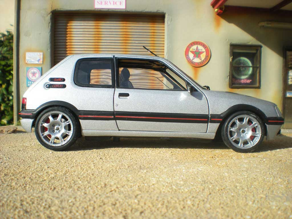 peugeot 205 gti tct gray futura jantes pts solido diecast model car 1 18 buy sell diecast car. Black Bedroom Furniture Sets. Home Design Ideas