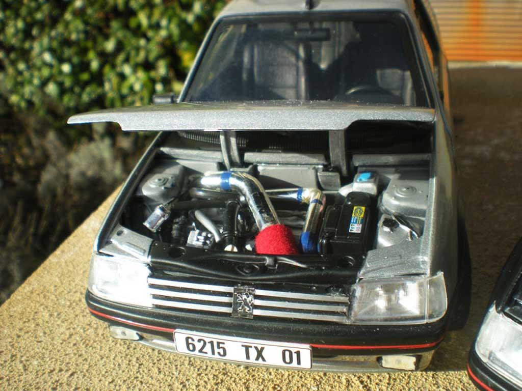 Peugeot 205 GTI 1/18 Solido TCT gris futura jantes PTS