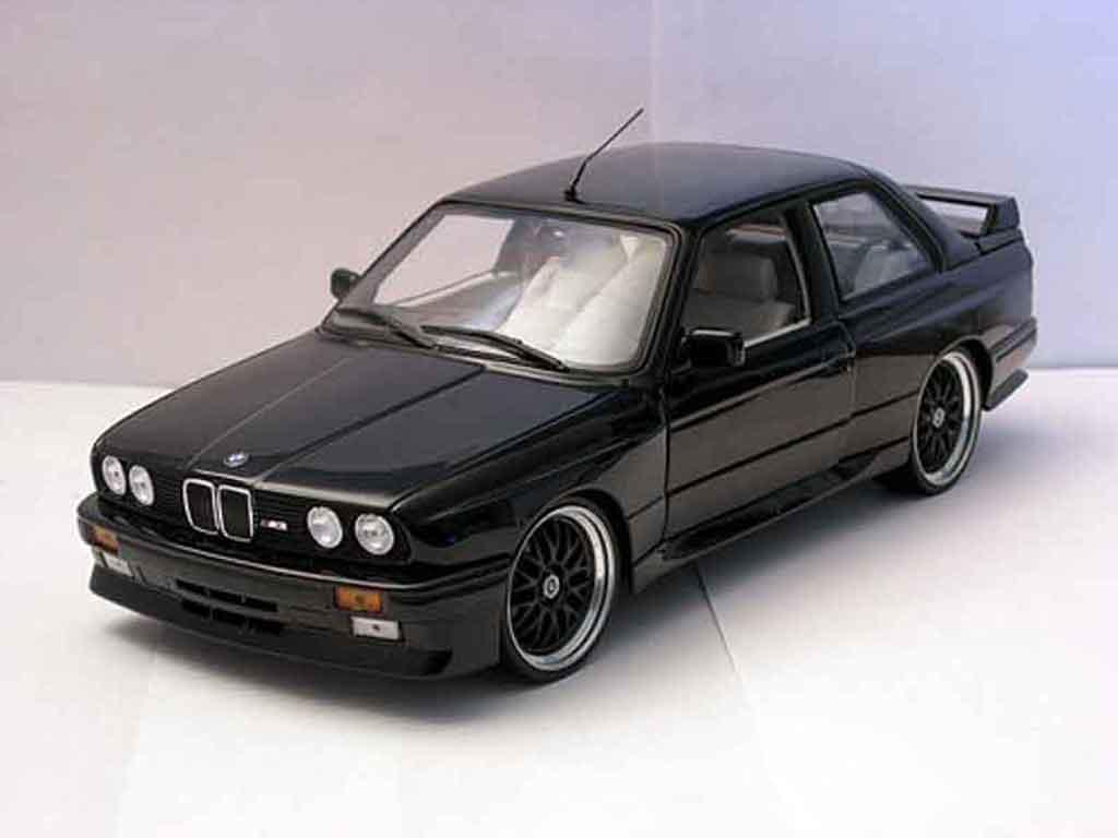 Bmw M3 E30 Jantes Bbs Black Autoart Diecast Model Car 1 18