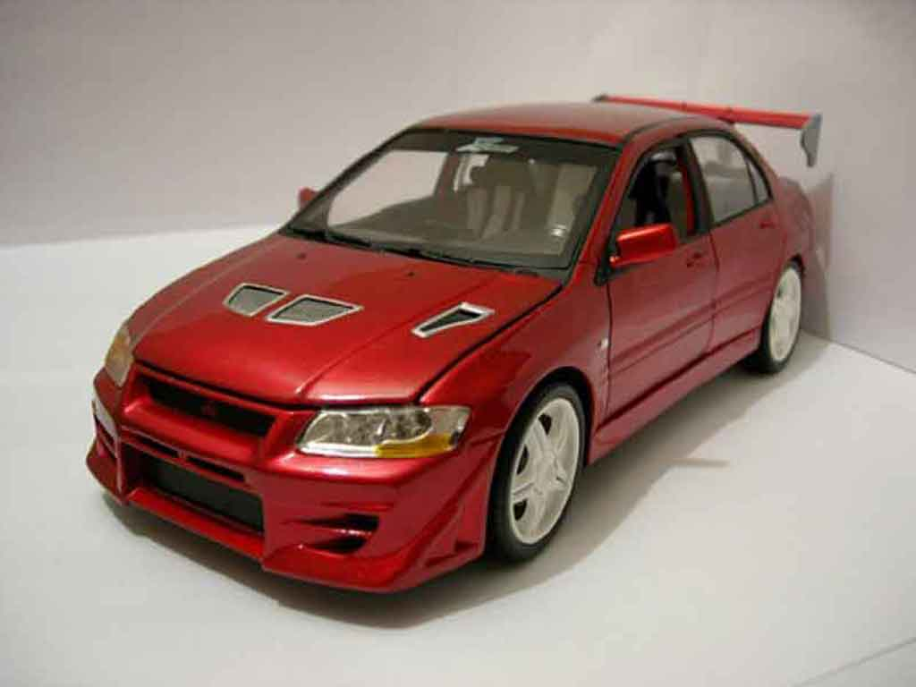 Mitsubishi Lancer Evolution VII 1/18 Ertl fast and furious rot modellautos