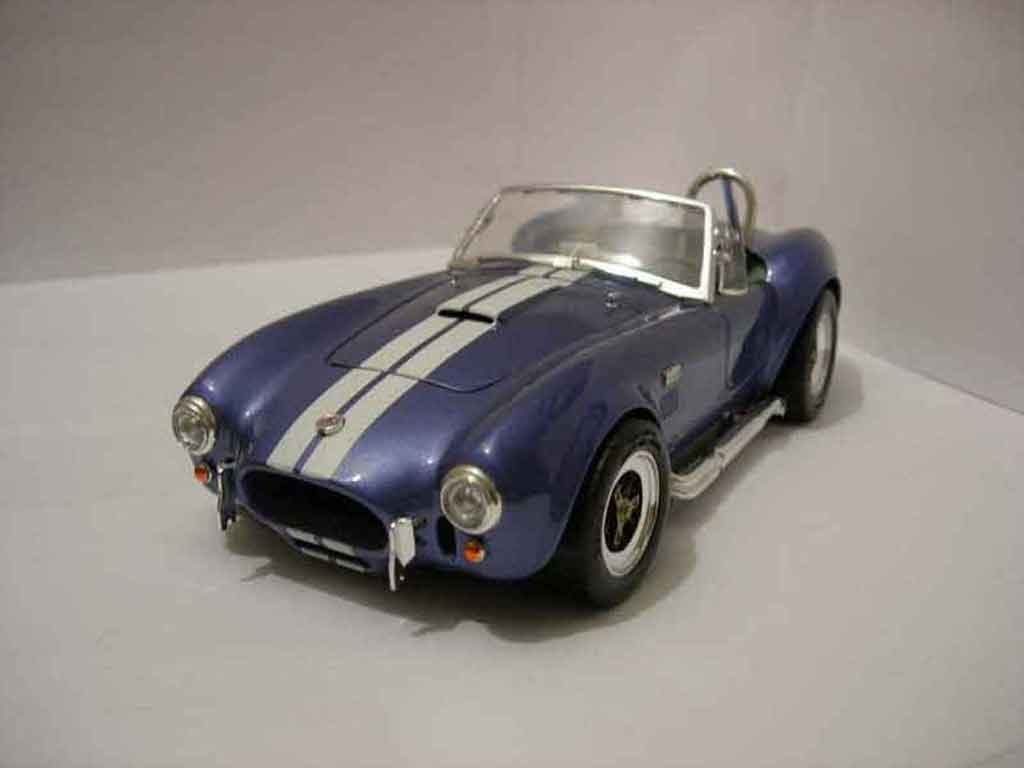 Shelby Ac Cobra 1/18 Road Signature 427 s/c bleue miniature