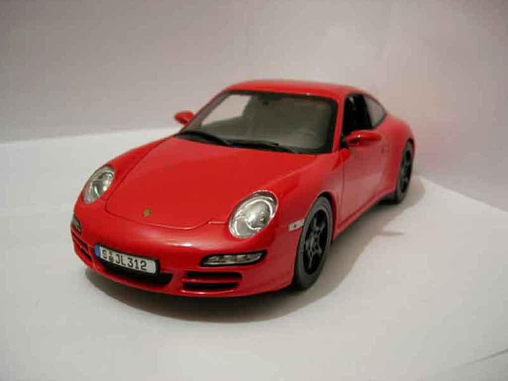 Porsche 997 4S 1/18 Norev red diecast model cars