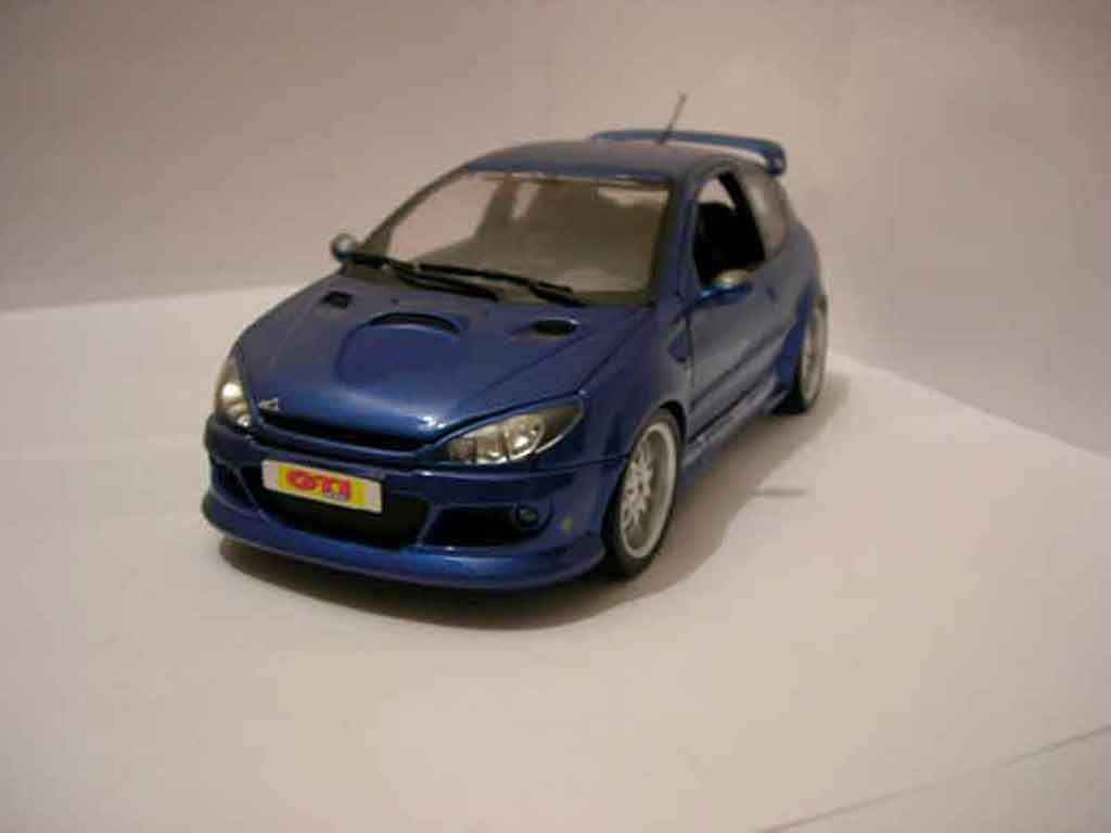 Peugeot 206 RC 1/18 Norev Esquiss Auto bleue miniature