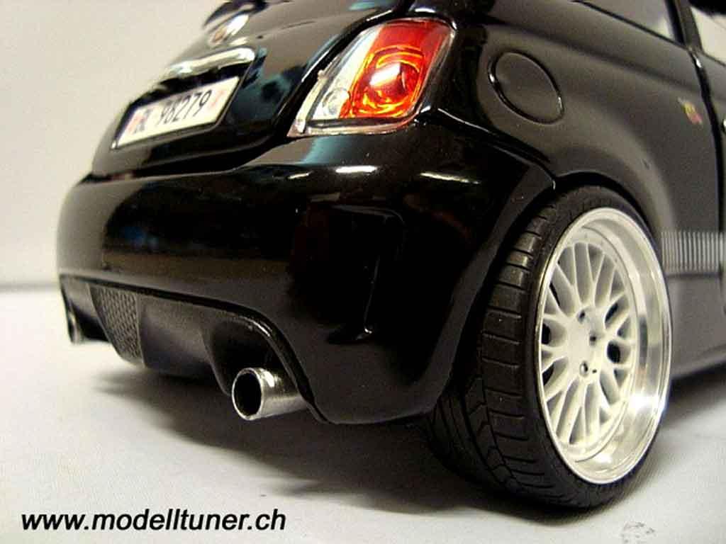 Fiat 500 Abarth 1/18 Mondo Motors nero 2007