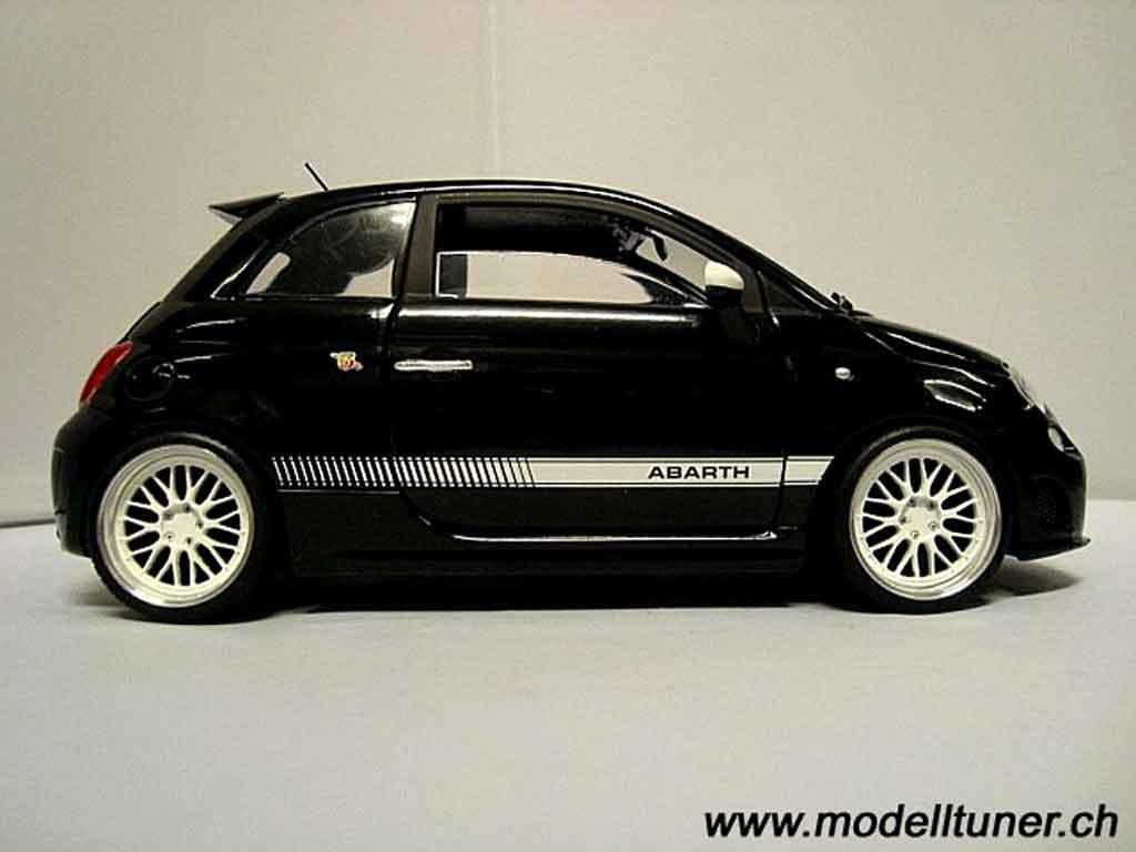 Fiat 500 Abarth Black 2007 Mondo Motors Diecast Model Car