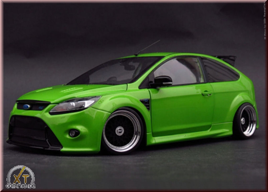 ford focus rs miniature verte 2010 jantes bbs 18 pouces minichamps 1 18 voiture. Black Bedroom Furniture Sets. Home Design Ideas