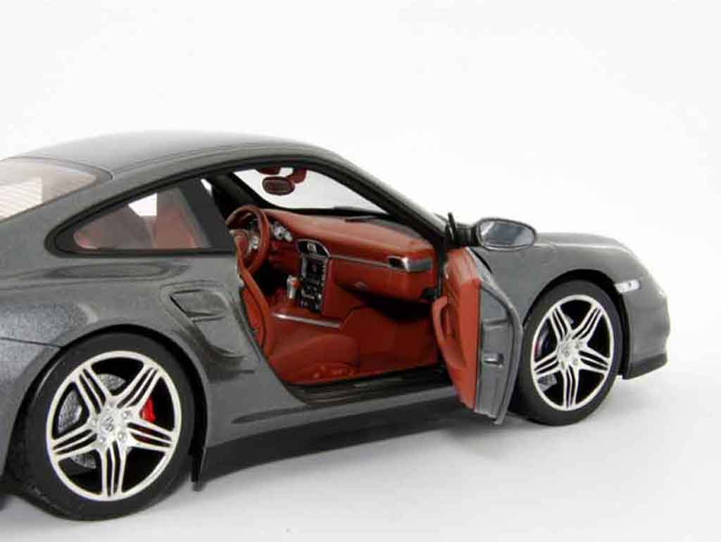 porsche 997 turbo miniature grise norev 1 18 voiture. Black Bedroom Furniture Sets. Home Design Ideas