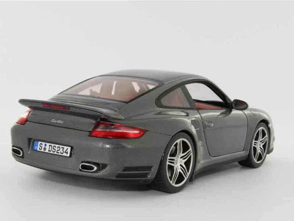 Porsche 997 Turbo 1/18 Norev grey diecast model cars