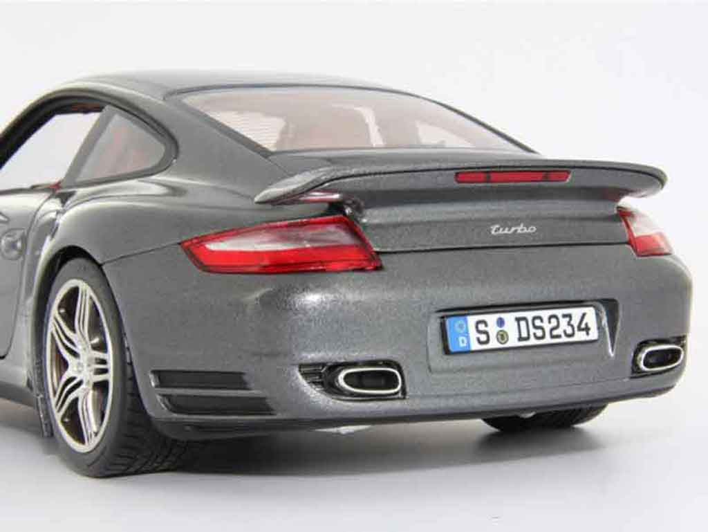 porsche 997 turbo grau norev modellauto 1 18 kaufen verkauf modellauto online. Black Bedroom Furniture Sets. Home Design Ideas