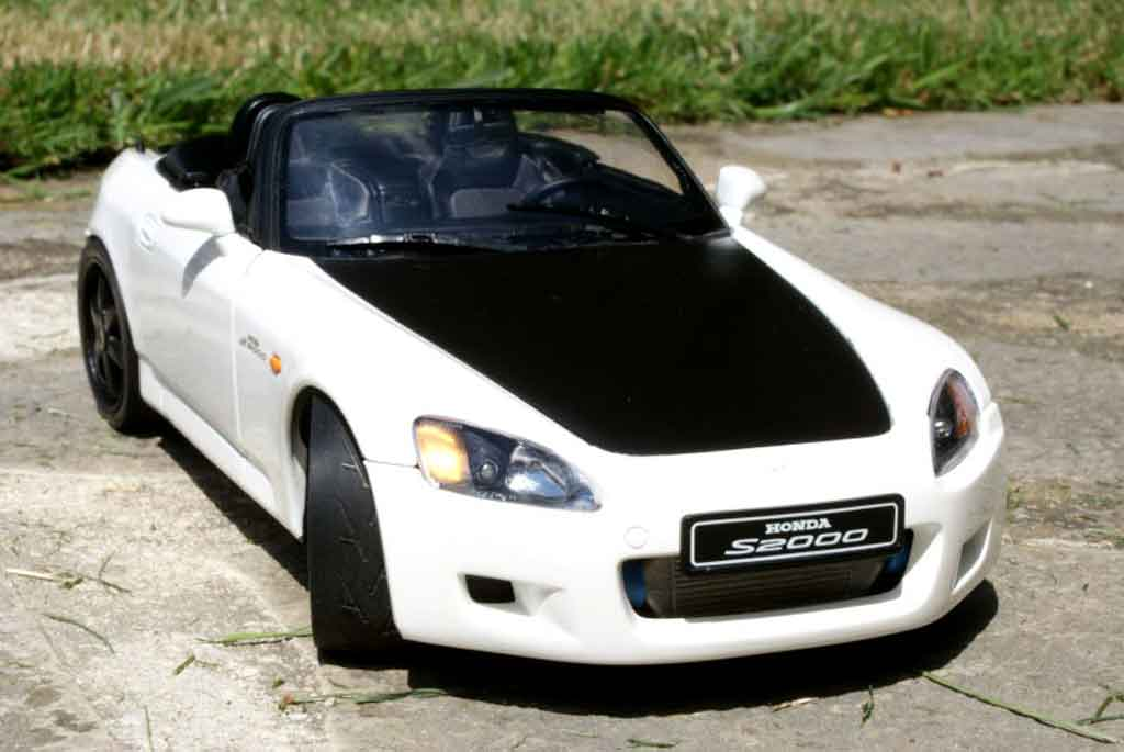 Honda S2000 1/18 Autoart white preparation turbo tuning diecast model cars
