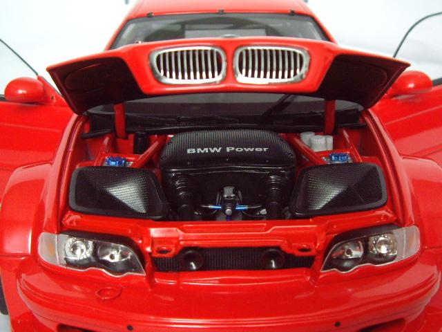 Bmw M3 E46 1/18 Minichamps GTR rosso jantes bbs 19 pouces