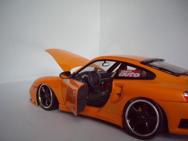 Porsche 996 Turbo 1/18 Hotworks techart orange