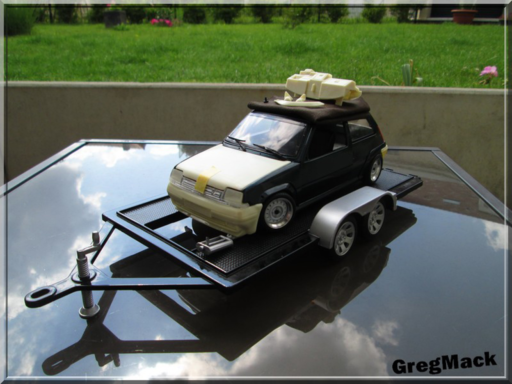 Renault 5 1/18 Norev GT Turbo vert Abyss jantes BBS