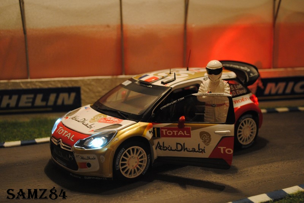 DS Automobiles DS3 WRC 2013 1/18 Norev WRC 2013 Winner Monte-Carlo Loeb/Elena LED tuning diecast model cars